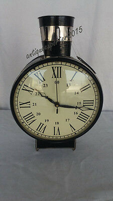 Vintage Style Handicraft Nautical Table / Wall  Clock  Antique Style Table Clock
