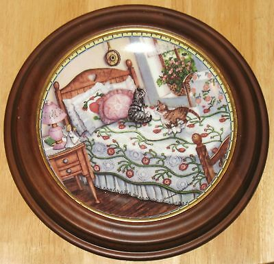 """Collectable  Cat Plate  Knowles """"a Sunny Spot"""""""