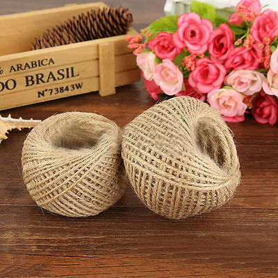 1Pc 30M 2MM Twisted Burlap String Natural Ribbon Fiber Brown Jute Twine Rope Toy
