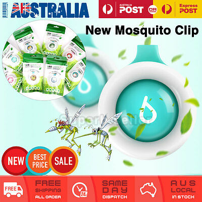 4 x Mosquito Insect Non-Toxic Natural Repellent Clip Buckle Waterproof Clip-On