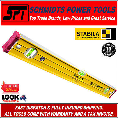 STABILA 600mm MAGNETIC SPIRIT LEVEL TRADE RIBBED FRAME 96-2-M/60 0.6m 60cm