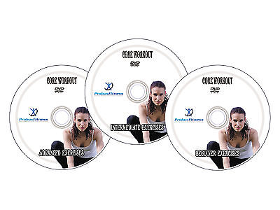 Gym Ball 65cm Red + Pump & 3 Workout DVDS for Core Fitness