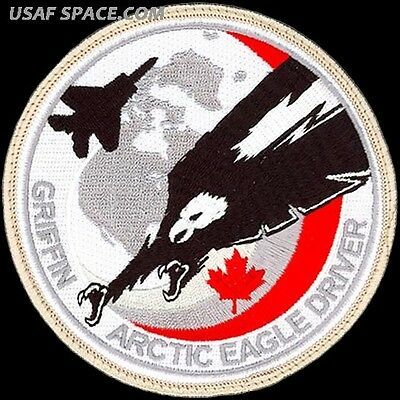 USAF 194th FIGHTER SQ - GRIFFIN ARCTIC EAGLE DRIVER - VIGILANT SHIELD -VEL PATCH