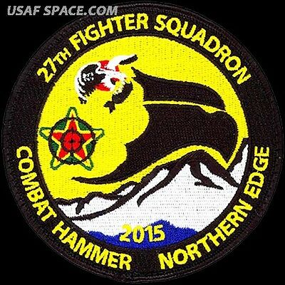 USAF 27th EXPEDITIONARY FIGHTER SQUADRON - COMBAT HAMMER & NORTHERN EDGE - PATCH