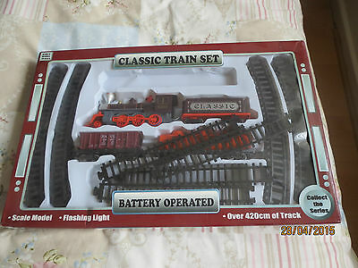 Classic Locomotive Train Set - Battery operated Over 420 cm of track