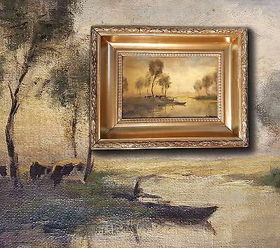 Dutch School: Paysage intimate, plein air Impressionist. Antique Oil painting