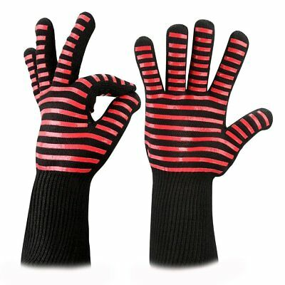 Premium Oven/BBQ Gloves Withstand 932°F/500°C Cooking Silicone Mitts Baking Hold