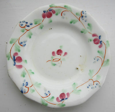 Antique early 19th century porcelain plate miniature hand-painted