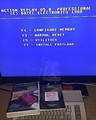 Commodore 64 Action Replay 5 V Fast Load Cartridge C64