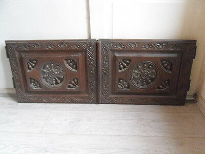 french antiquity: pair of doors Breton end 19 th