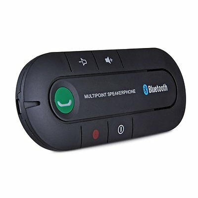 Handsfree Bluetooth Speakerphone Car Kit with Car Charge, for iPhone and Samsung
