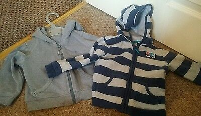 2 boys hoodies 12-18 months bluezoo and matalan