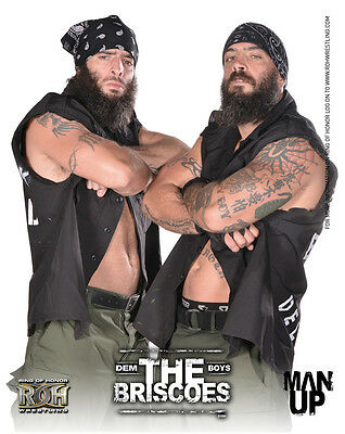 Official ROH Ring of Honor The Briscoe Brothers (Jay & Mark Briscoe) UK 8x10