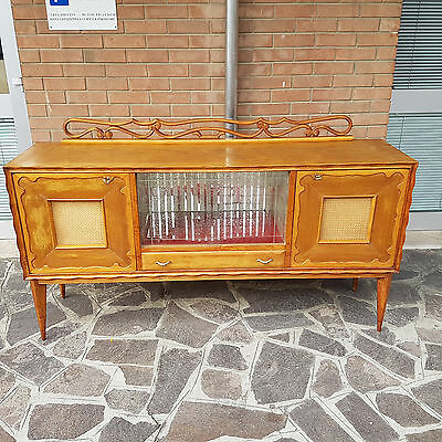 BEAUTIFUL SIDEBOARD IN MAPLE WITH BAR SPACE ITALIAN DESIGN FROM 50s