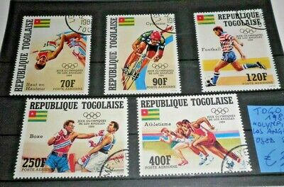 "Francobolli Stamps Togo 1984 ""olympics - Los Angeles"" Used Set (Cat.x)"