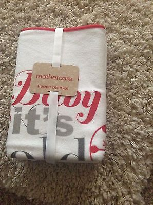 BNWT MOTHERCARE Luxury Soft Fleece Baby Blanket with for Babies IDEAL GIFT