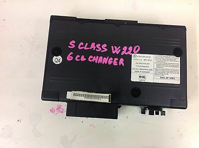 Mercedes S Class W220 6 Cd Changer With Cartridge Complete A2038209089