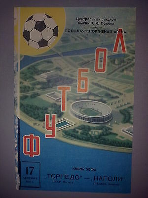 Programme Torpedo Moscow USSR - Napoli Naples Italy 1975-76 UEFA Cup