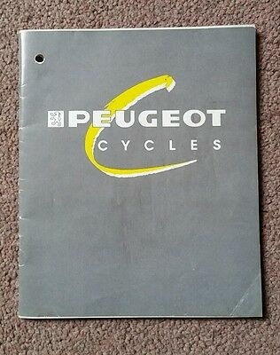 1990 Peugeot Cycles Owners Manual