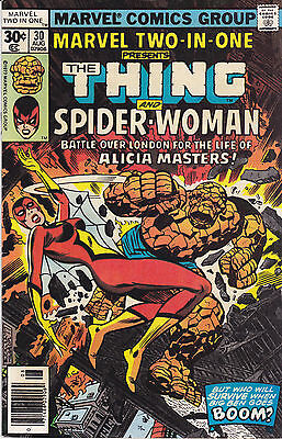 Marvel Two-in-one #30 2nd app. Spider-woman 1977 Thing Comic FN Buscema 30-cent