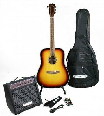 Keytone Western Guitar Set Deluxe & Amplifier And Accessories