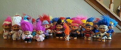 Huge Lot of 27 Vintage Troll Dolls. Some Rare and HTF.