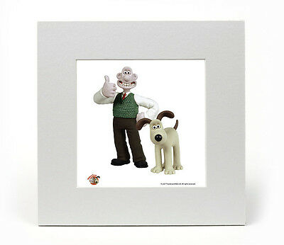 Wallace & Gromit (Thumbs Up) Officially Licensed Limited Edition Art Print 8X8