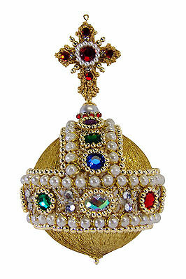 SATIN BEADED CHRISTMAS ORNAMENT KIT - Crowning Moment with digital instructions