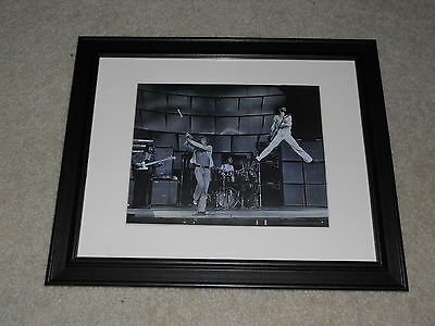 """Framed 1969 The Who LIVE Stage Shot Mini-Poster, 14"""" by 17"""" Tommy"""