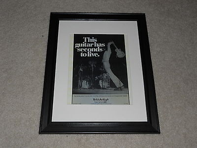 """Framed 1979 Pete Townshend Ad Mini-Poster, 14"""" by 17"""" The Kids Are Alright, Who"""