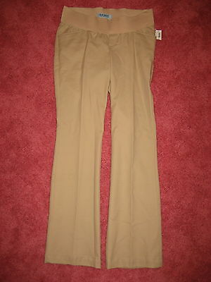NEW Old Navy under belly maternity womens 2 tan pants beige
