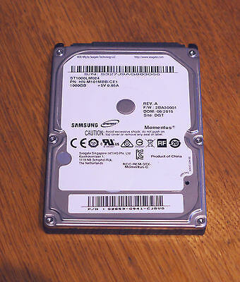 """Samsung Seagate ST1000LM024 Momentus 2.5"""" 1TB 5400 RPM 8MB Cache Hard Disk Drive"""
