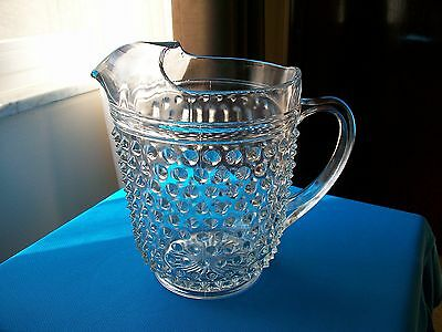 Anchor Hocking Hobnail Crystal Water Pitcher w/ Ice Lip  Depression 1934-1936