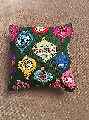 Handmade square mini pillow cat toy with catnip gift pet Christmas Baubles