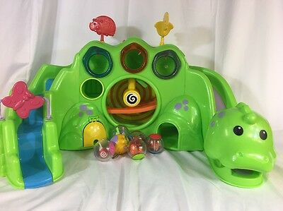 Fisher-Price Drop & Roar Dinosaur Baby Dino Sounds Lights 5 Roll-A-Rounds Balls