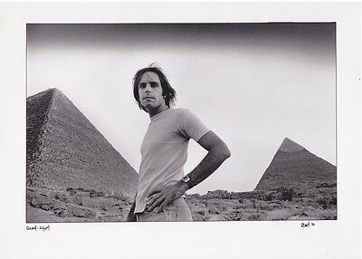 BOB WEIR Vintage Egypt Photo Signed by Photographer Adrian Boot GRATEFUL DEAD