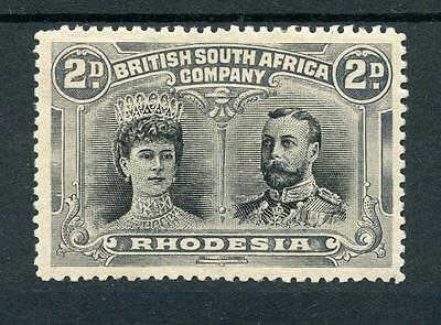 Rhodesia 1910 Double Head perf 14 2d black and grey SG126 MM