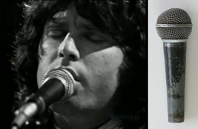 THE DOORS Jim Morrison STAGE-USED Shure Microphone ROAD MANAGER Authentication
