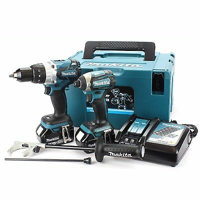 MAKITA DLX2176TJ TWIN PACK BRUSHLESS COMBI DRILL & IMPACT DRIVER 2 x 5.0AH BATTS