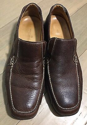 Sandro Moscoloni Men's Brown Leather Loafers Dress Shoes Size 11