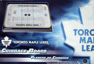 Toronto Maple Leafs Cribbage Game ~ Rink Shaped Cribbage Free Tml Team Cards