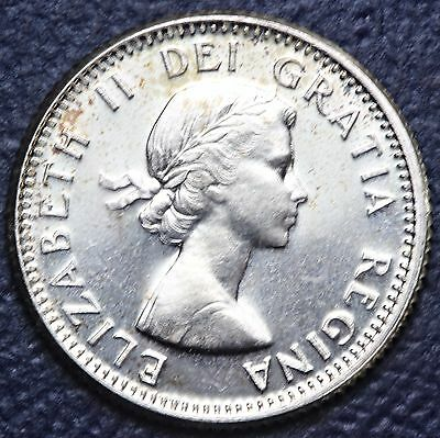 1960 Canada 10 Cents .8000 Silver Coin * Bu--Brilliant Uncirculated * #2