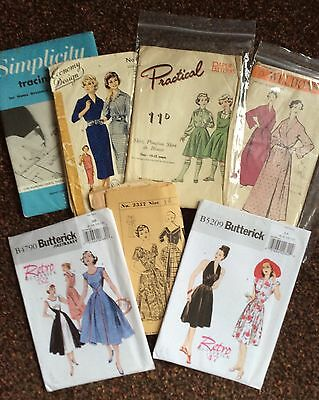 Quantity Of Vintage And Repro Sewing Patterns From The 1940s/50s