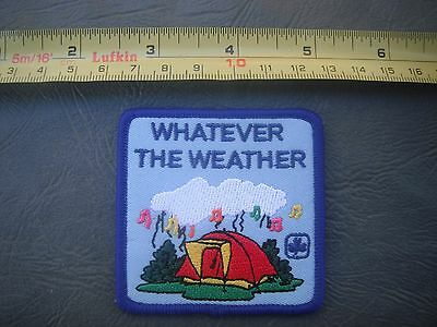 Girl Scout Brownie Patch Camping What Ever The Weather Patch Free Shipping!!