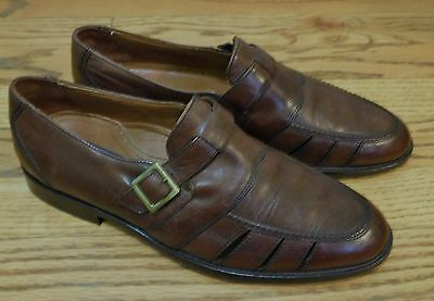 Bostonian Florentine Brown Leather Dress Shoes Loafers Men's Size 8.5M #24352