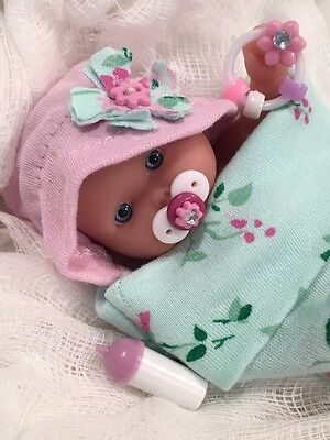 "OOAK 5-6"" Baby Girl Doll Clothes & ACC~Cocoon Bunting~For Mini Reborn~Berenguer"