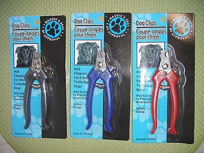 New ! Dog Nail Clippers Claw Clips for small to medium dogs Black Blue Red
