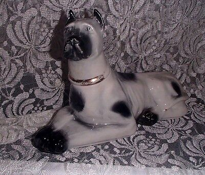 Vintage Ceramic James Jim Beam 1976 Liquor Decanter Great Dane Dog Figurine