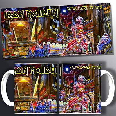 tazza mug music IRON MAIDEN somewhere in time, rock metal scodella ceramica
