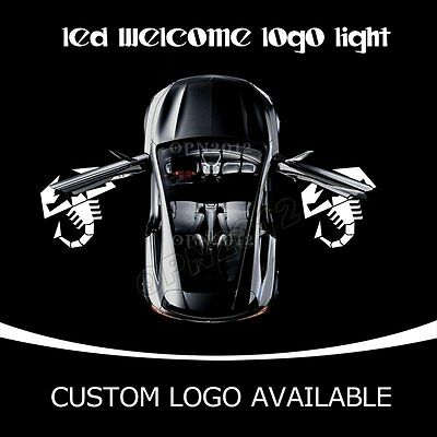 2X Auto door Led Welcome laser projector Logo Ghost Shadow Light Lamp for ABARTH